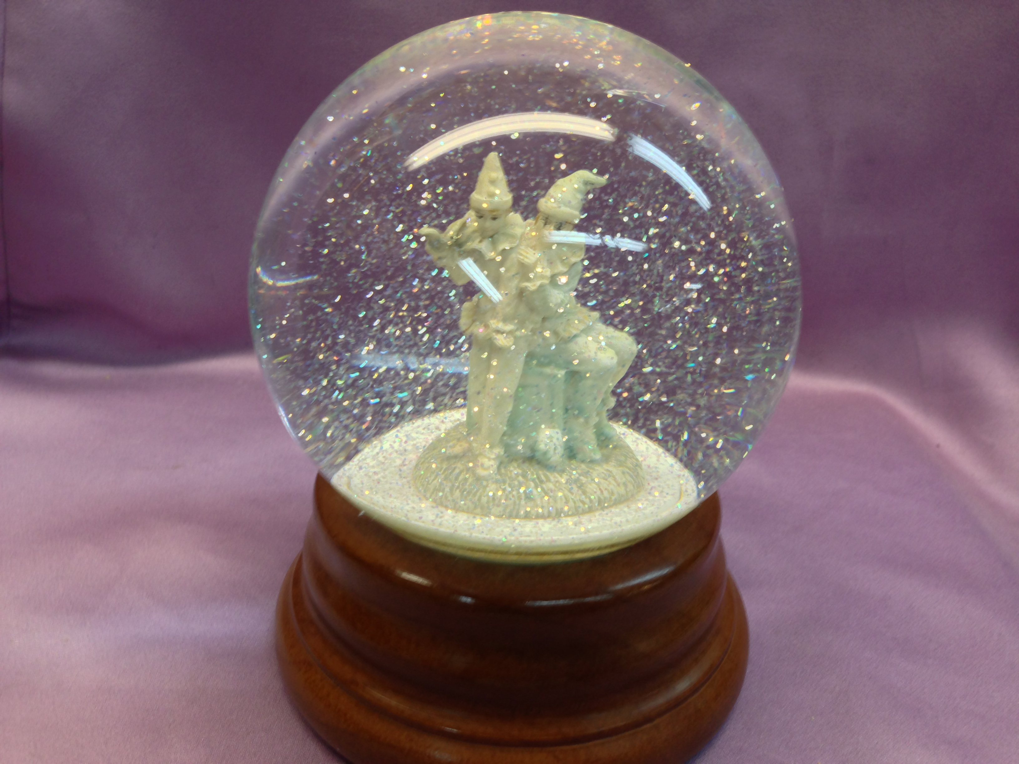 Two Clowns Snow Globe